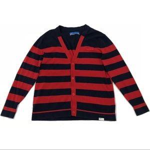 Adidas Adicolor Cardigan Mens V-Neck Striped